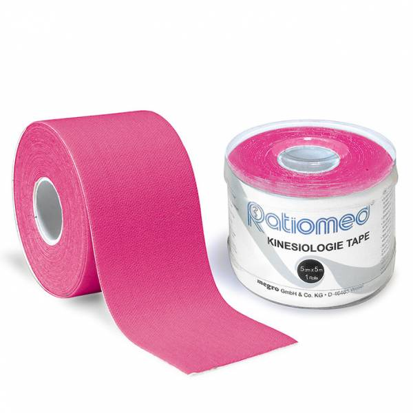 Kinesiologie-Tape ratiomed, pink, 1Stk./Pkg., 5mx5cm