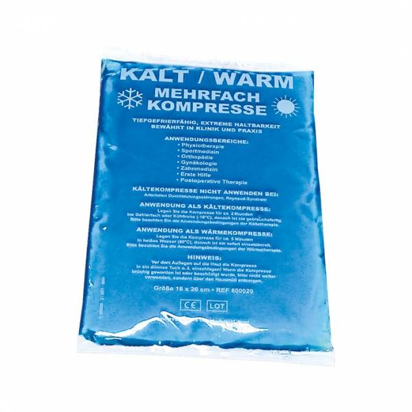 Kalt-/Warm-Kompresse, blau, 16 x 26 cm, 5 Stück Multipack
